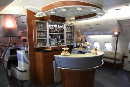 Emirates Airlines Business class on board lounge