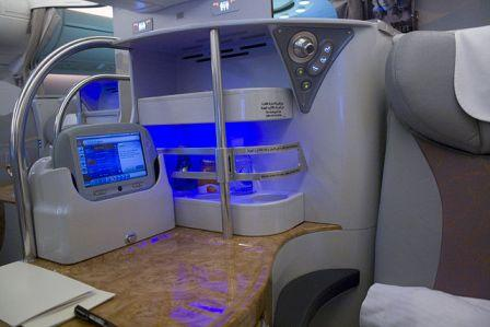 Emirates Business class seat recline
