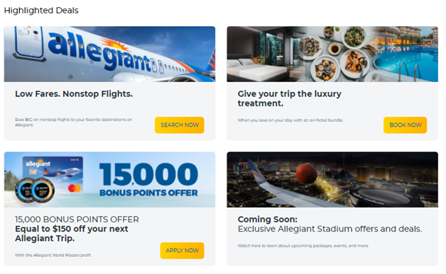 allegiant Airlines offer and Deal